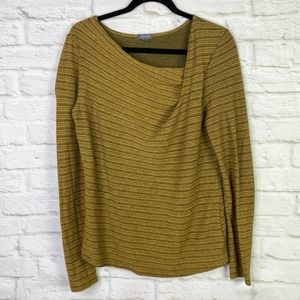 Lilla P Mustard Yellow/Brown Long Sleeve Cotton
